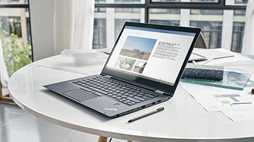 A laptop with a Word document open